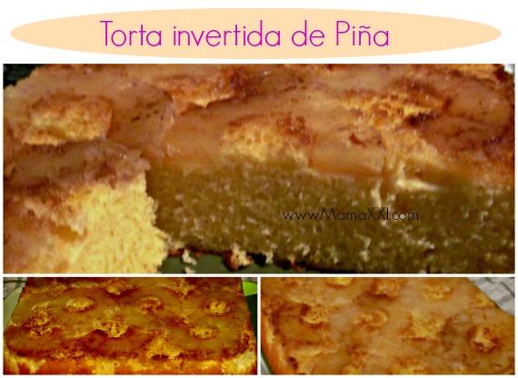 torta invertida piña